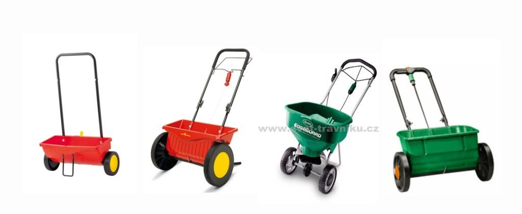 Různé posypové vozíky