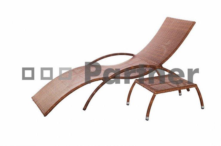 Zahradní lehátko + stolek Bade