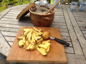 Recept hranolky na grilu - gril Weber