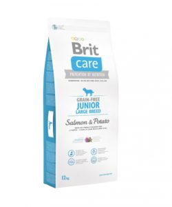 Granule Brit Care Grain-free Junior Large Breed Salmon & Potato 12 kg