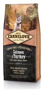 Granule Brit Carnilove Salmon & Turkey for Large Breed Puppies 12 kg